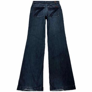 7 For All Mankind Dojo 29X33.5 Flare Altered Waist